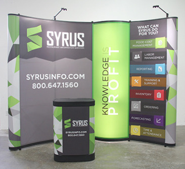 Value 10 ft Pop-Up Display with Bubble Panel