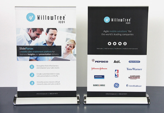 Mini Retractable Banner Stands