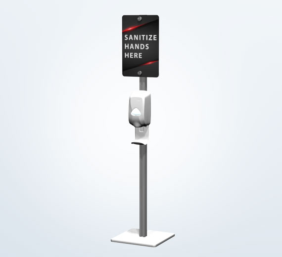 Hand Sanitizing Station with Sign