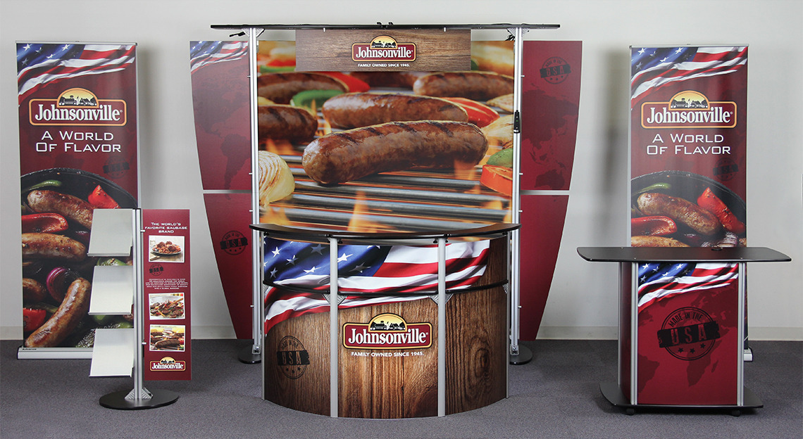Exhibit Line Display Booth for Johnsonville