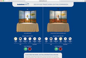 Trade Show Lighting Comparison Tool