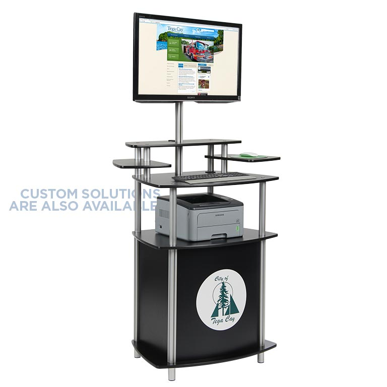 MultiMedia Twist Kiosk Customized as a Kiosk Printer Station