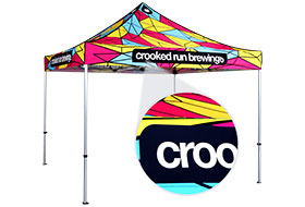 Printed Pop-Up Event Tent