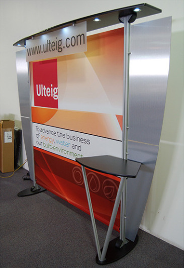 10 ft Exhibit Line Trade Show Display